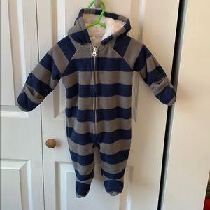 Zip up onesie fleece. Old navy. 3-6 months.